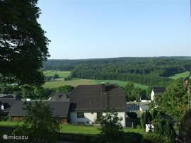 Vanuit het huis is er uitzicht over het dal met het Arnsberger Wald.