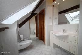 Moderne badkamer met ligbad.
