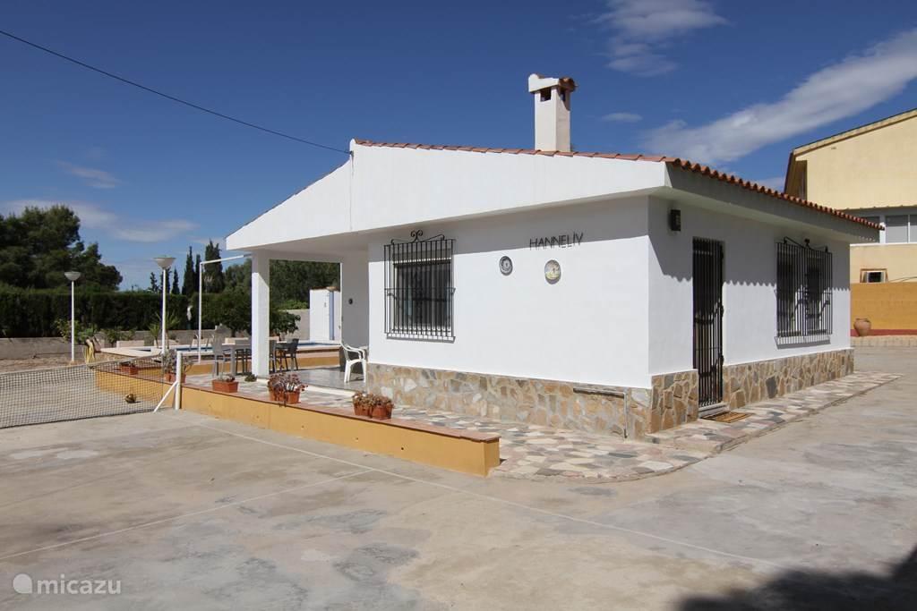 Voorzijde van het huis