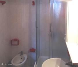 badkamer met douchecabine