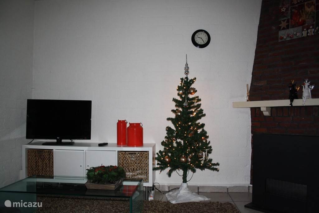 het vakantiehuis in kerstsfeer.