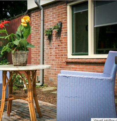 Het terras bij uw vakantiehuisje