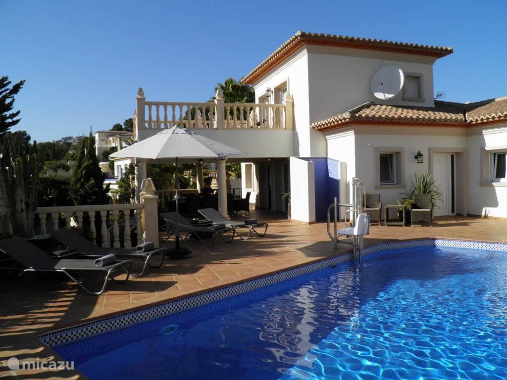Vakantiehuis Spanje, Costa Blanca, Moraira villa Casa Palomino, Rolstoelvriendelijk!