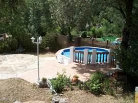 zwembad(je) met terras
