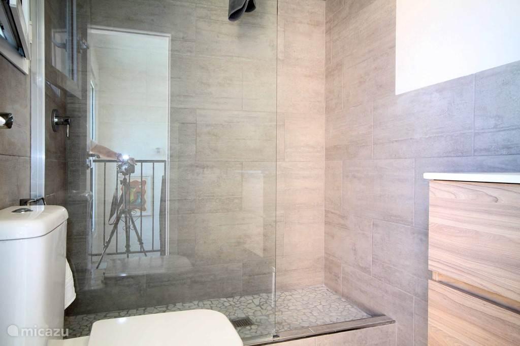 badkamer met inloop douche en rain shower