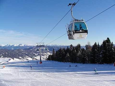 Wide slopes and speed gondola.