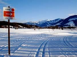 Langlauf Loipen: Starten in direkte omgeving van vakantiewoningen.