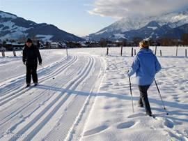Langlauf Loipen / Winterwandelen:  In direkte omgeving van vakantiewoningen.