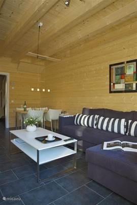Woonkamer per vakantiewoning: Comfortabele zit & eethoek.