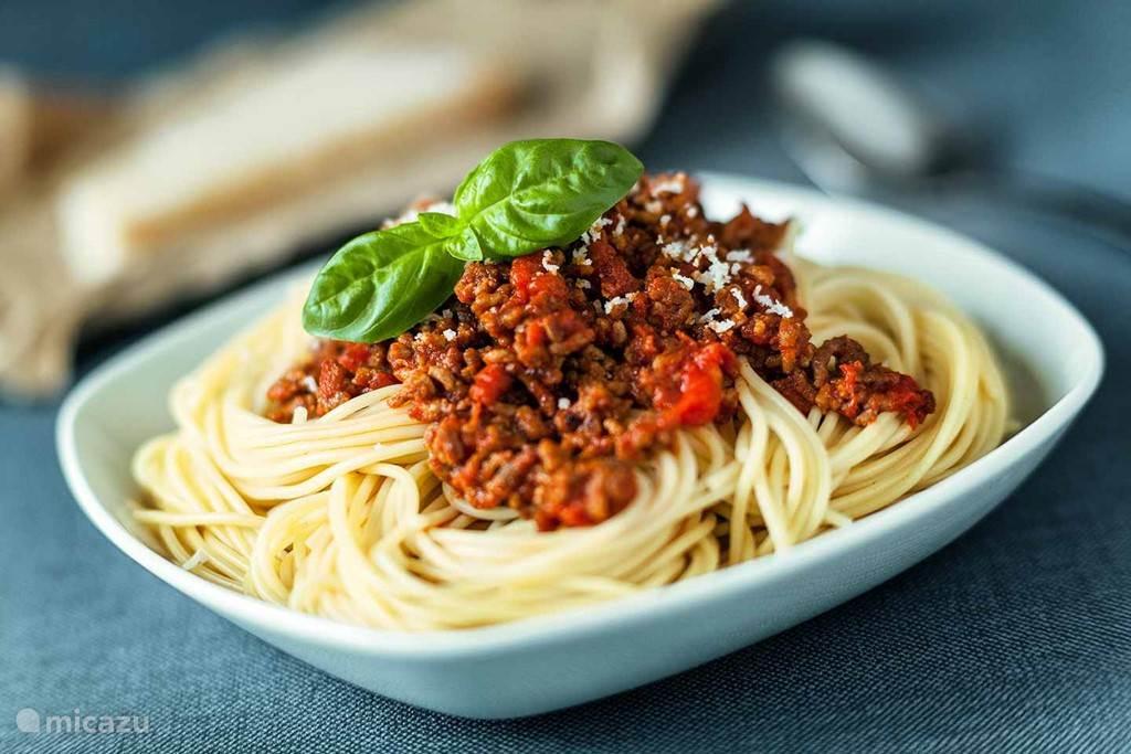 spaghetti huis gemaakt