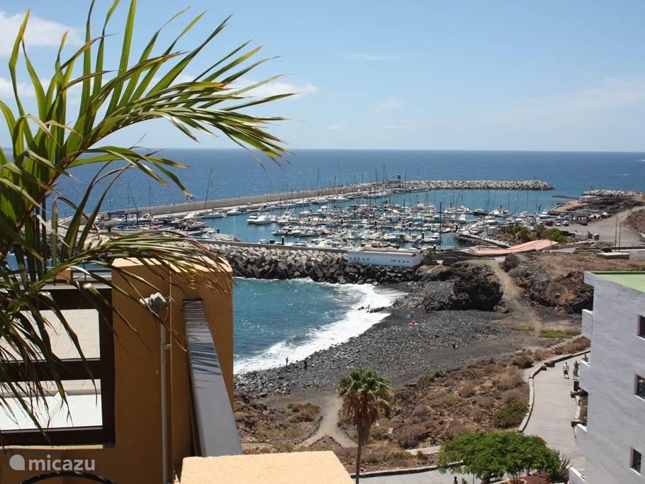 Strandje op ca. 30 mtr afstand met daarachter de haven. Vanaf deze haven zijn er velerlei excursiemogelijkheden, waaronder een boottocht naar de dolfijnen en een duikboottrip.