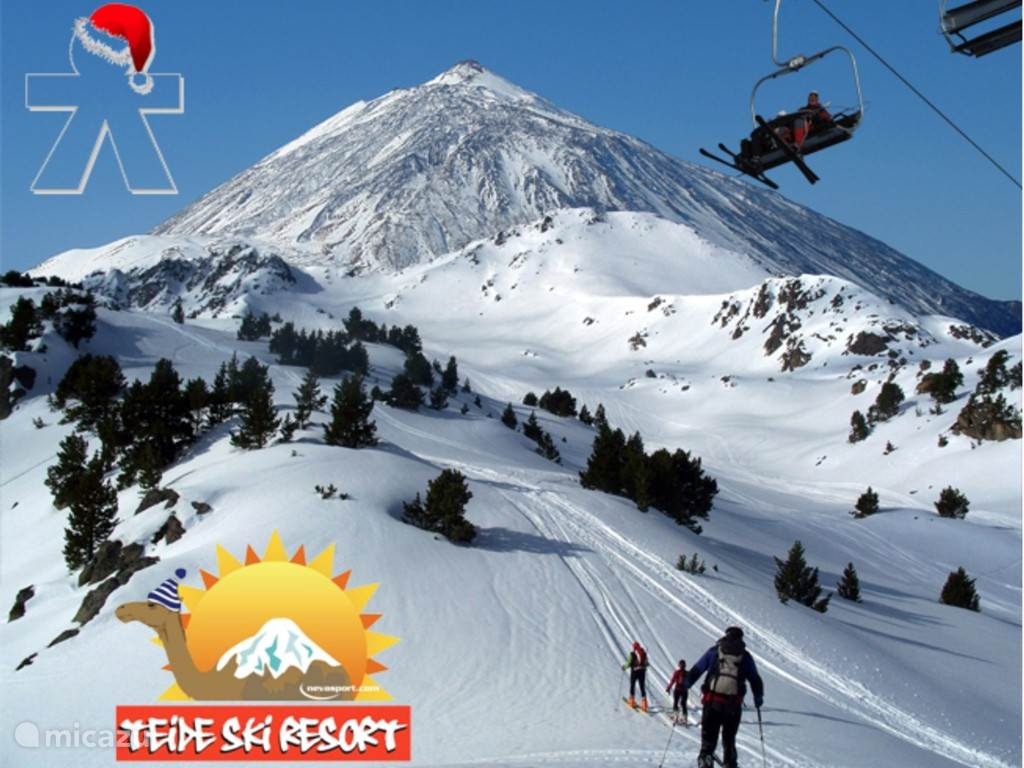Het Teide Skiresort waar men kan skiën