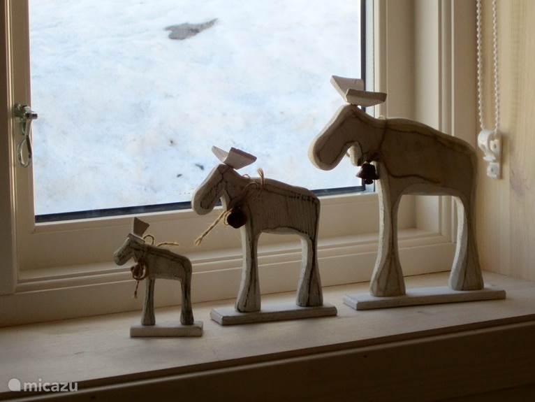 De elanden ontbreken natuurlijk niet...
