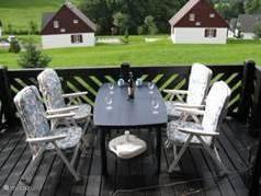 voor het avondeten op veranda