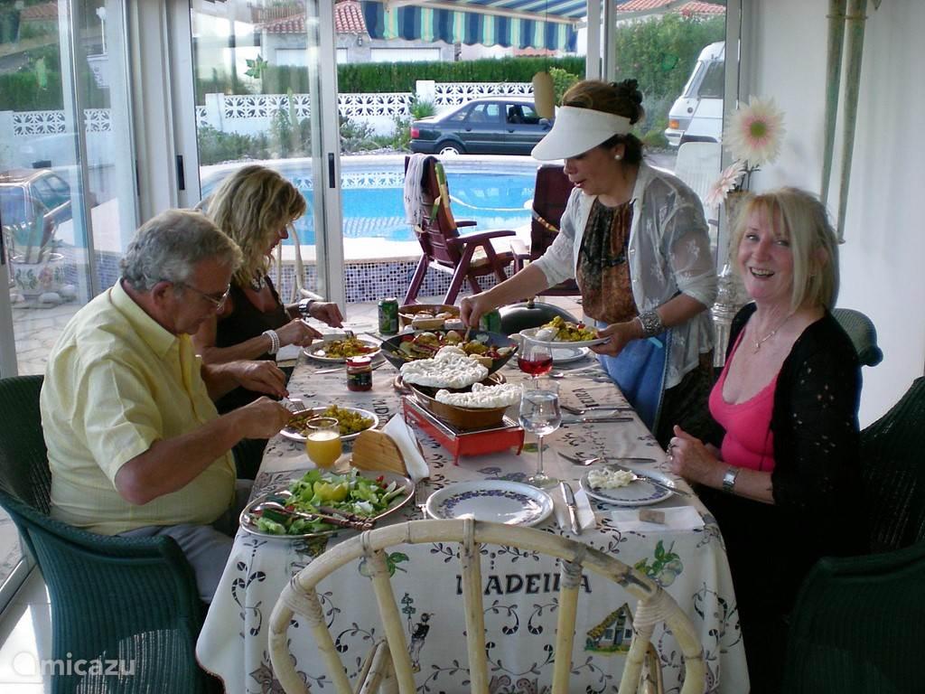 eten in de serre
