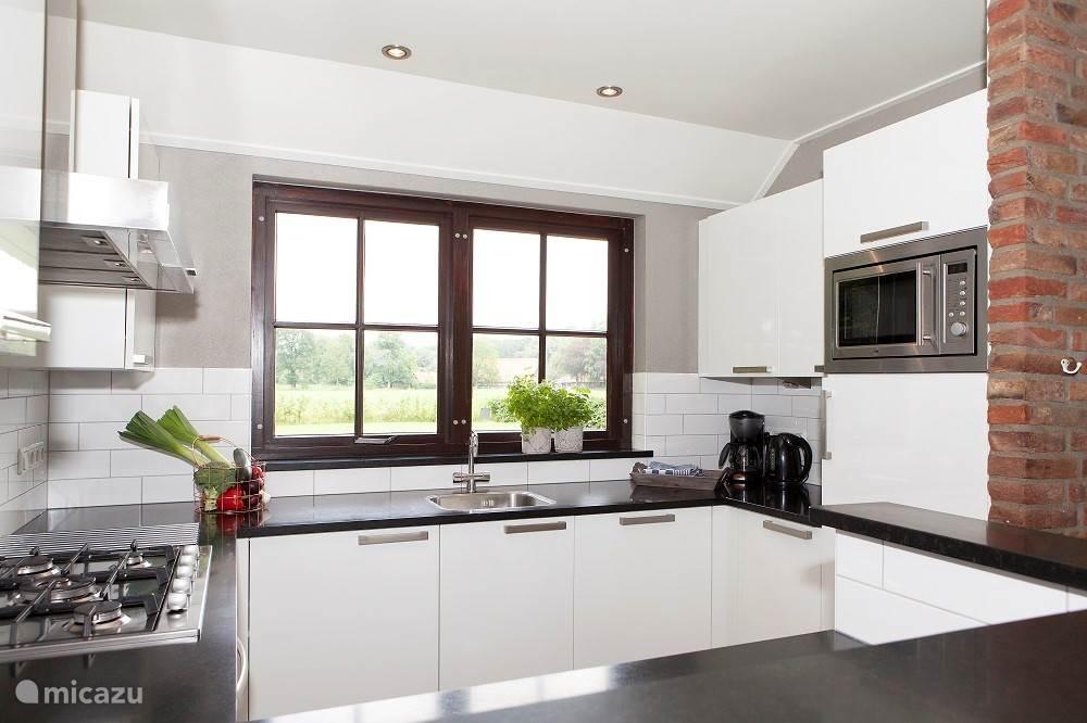 Moderne keuken van alle gemakken voorzien