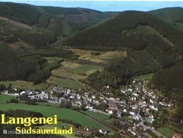 Luchtfoto van Langenei waar onze gasthof gelegen is.