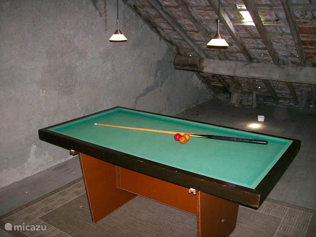 Billiards Attic on 2nd floor.