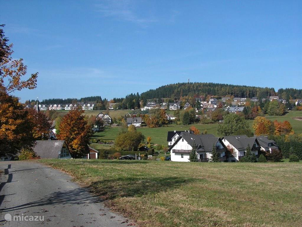 View of the apartment from the nature of Neuastenberg