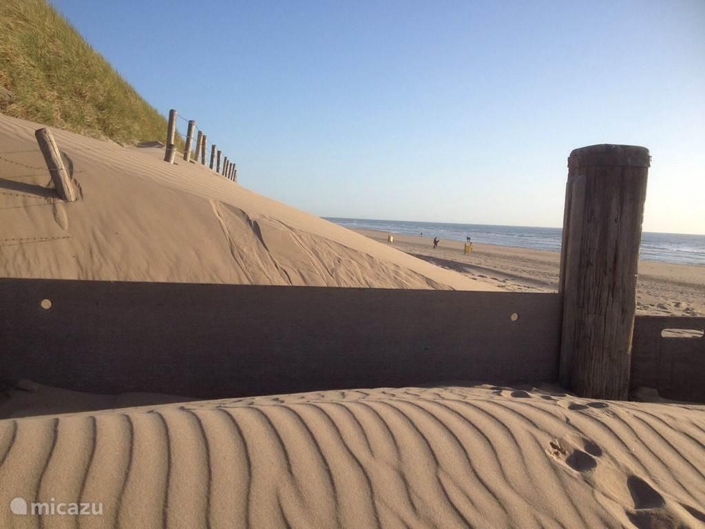 Noordwijks duin en strand gebied.