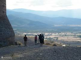 Uitzicht bij het kasteel van la Calahorra (5 km. van Alquife)