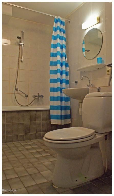 De badkamer is compleet.