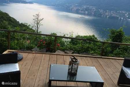 Vakantiehuis Italië, Comomeer, Pognana Lario appartement Dono il Lago di Como- met meerzicht