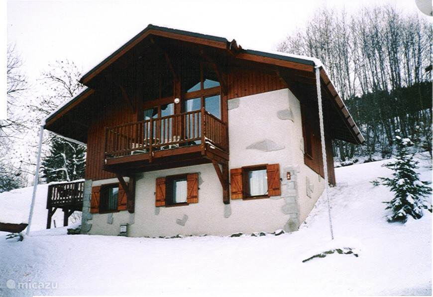 view chalet in winter