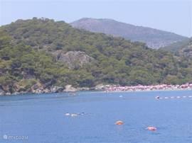blue lagoon en strand van Ölüdeniz
