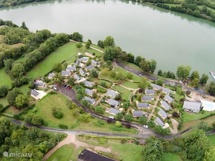 Overzicht van het parkje gemaakt met een drone