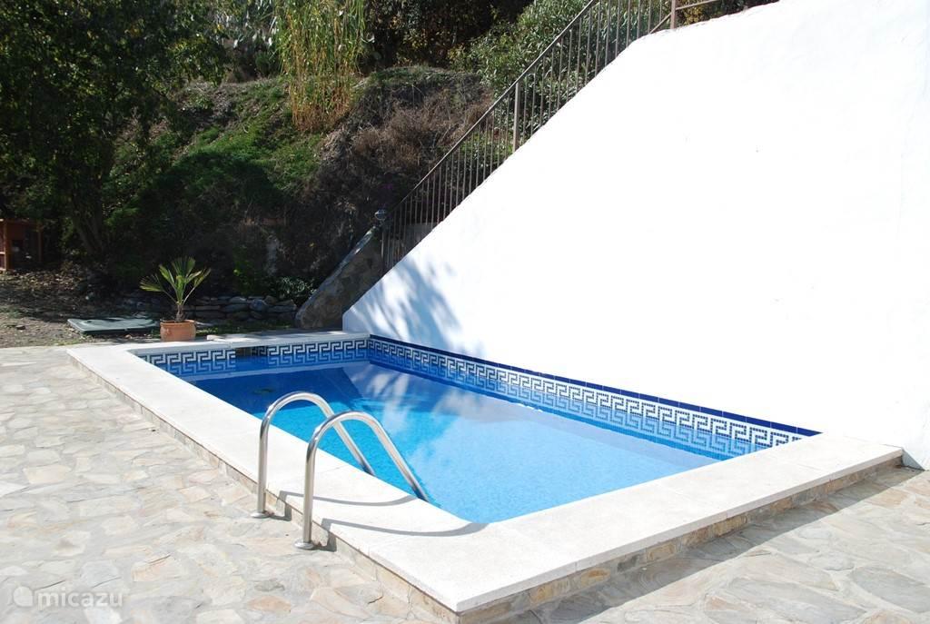 Het zwembad met heerlijk zonnig terras
