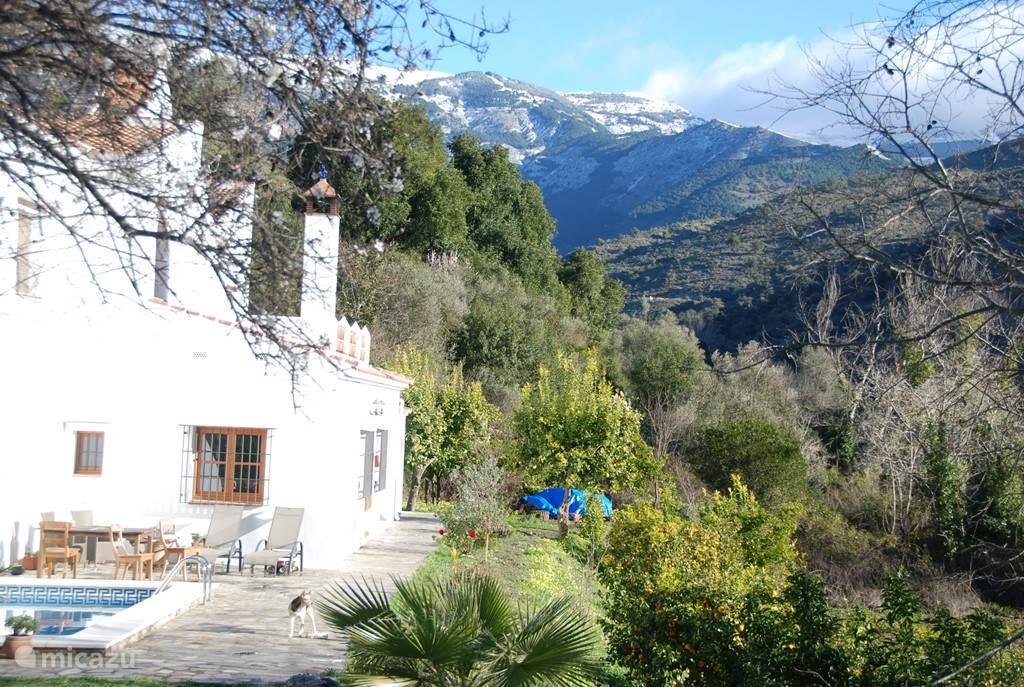 Sneeuw op de toppen van de Maroma in de winter