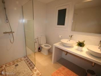 De nieuwe badkamer.