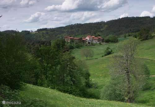 The hamlet Estivareilles seen from a distance