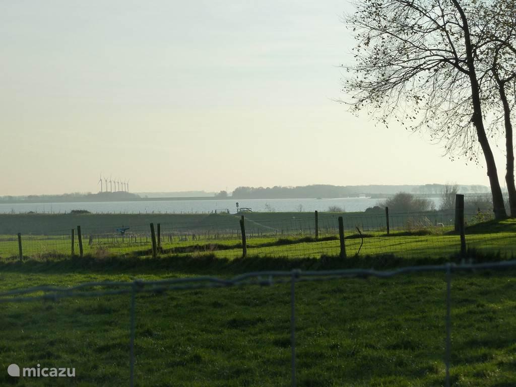 Zicht op het Amstelmeer, vanuit Westerland.