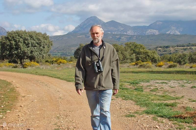 Vanuit Casa Correo loopt u direct de vrije natuur in. Hier de eigenaar Kees Woutersen.