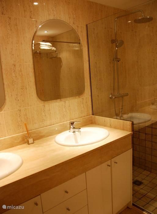 Badkamer met inloop douche met grote regenkop