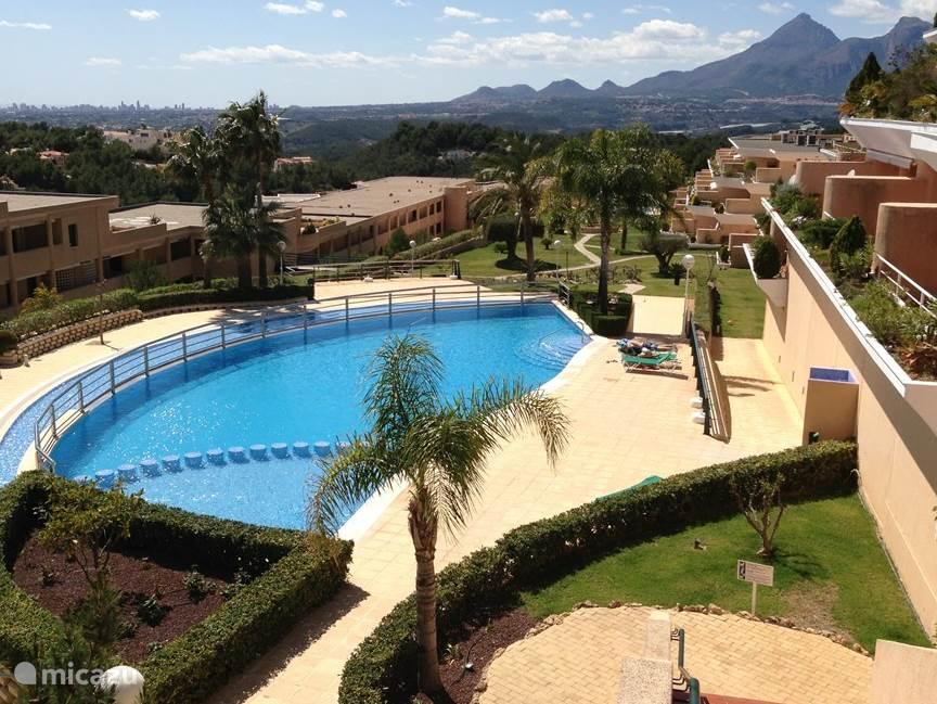 Zwembad met uitzicht op tuin