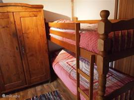The bunk bed in the family room on the ground floor.