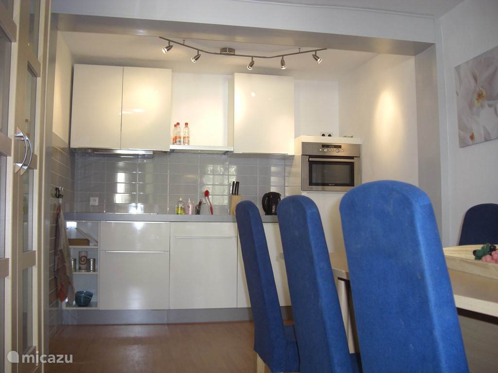 Luxury spacious kitchen with appliances and fully furnished. In this room, the dining area for 6 people.