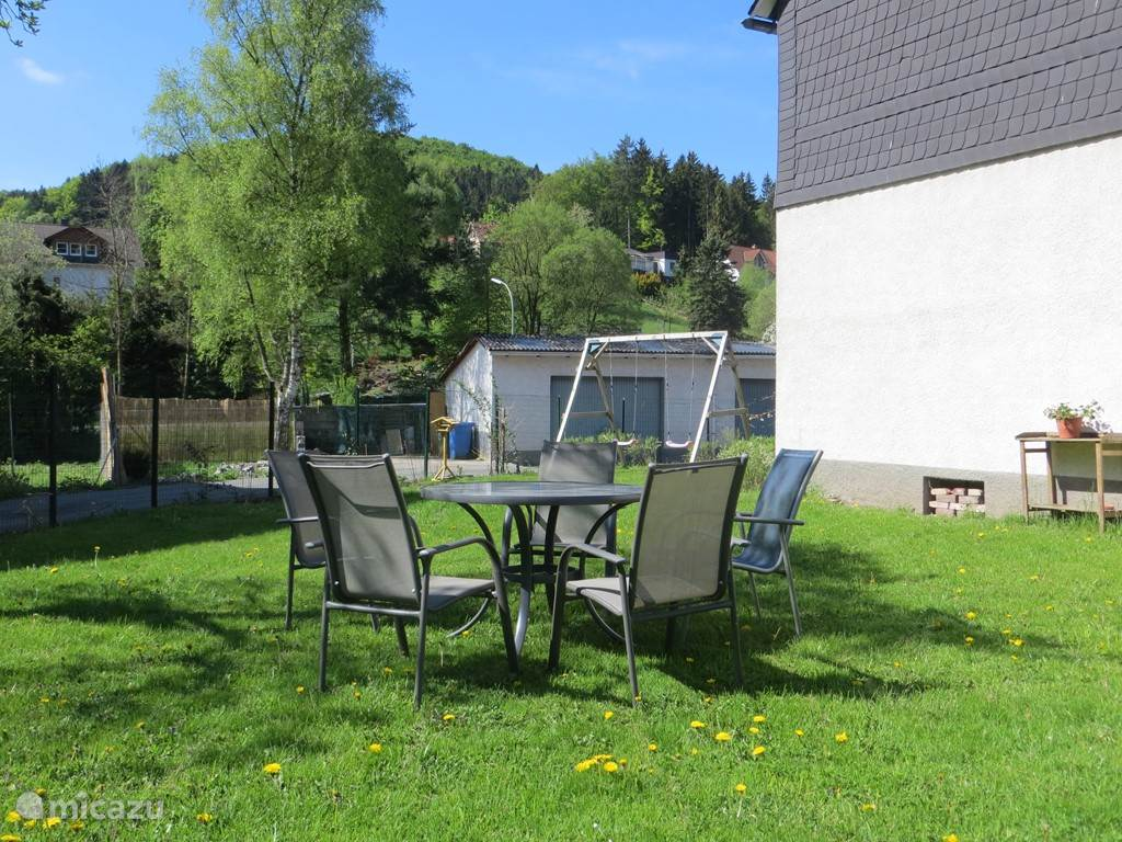 Garden furniture are available