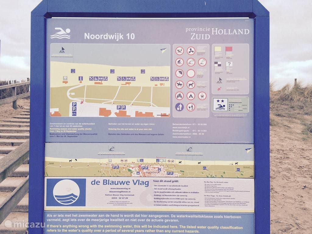 De Blauwe Vlag is een internationale milieuonderscheiding, die jaarlijks wordt toegekend aan stranden en jachthavens die aan de campagne deelnemen en aangetoond hebben schoon en veilig te zijn. Het strand van Noordwijk heeft deze erkenning, heerlijk van genieten dus.