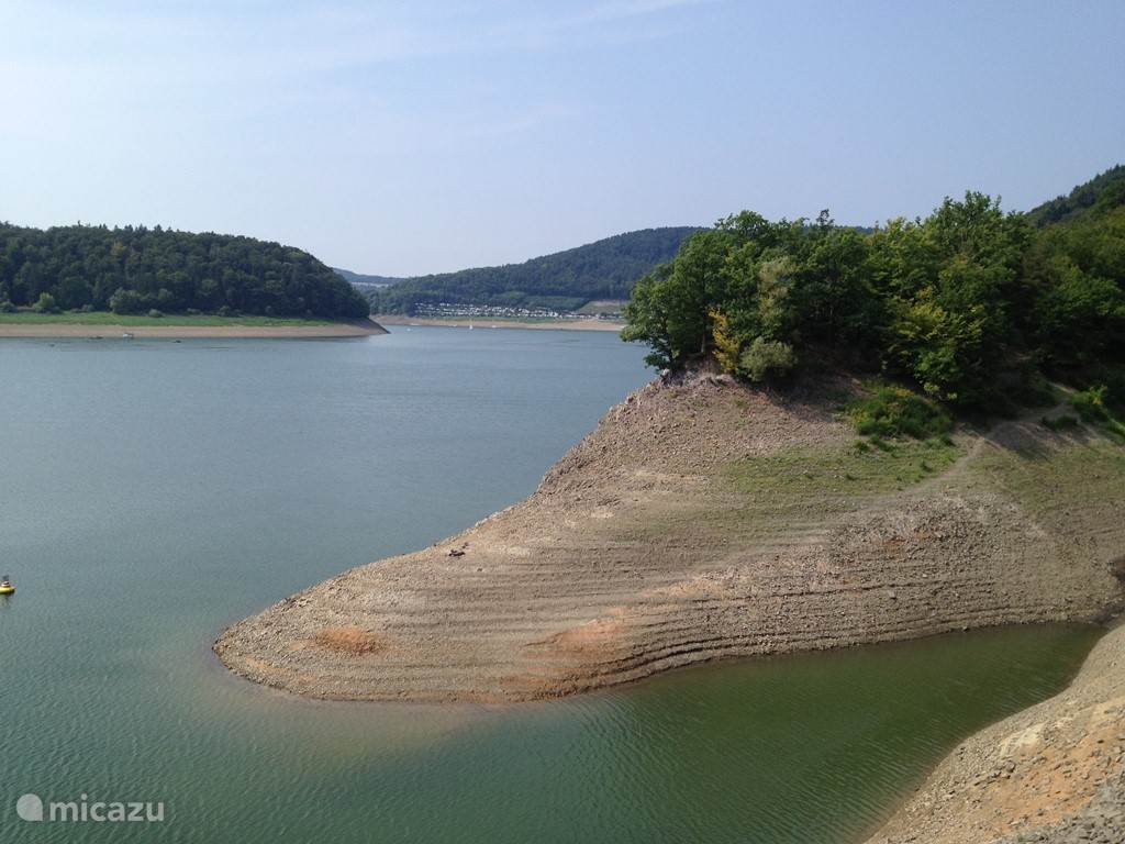 The Edersee, water is low in summer ....