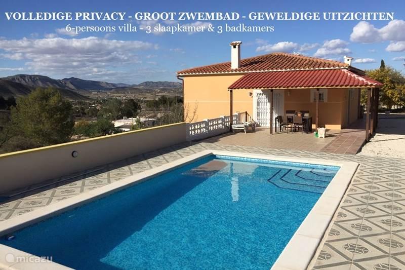 Vacation rental Spain, Costa Blanca, Hondón de las Nieves Villa Villa Asjemenou
