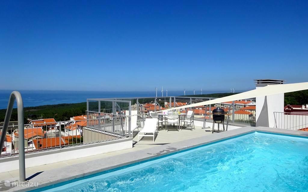 Vakantiehuis Portugal, Costa de Prata, Nazare Penthouse Vista e Vida