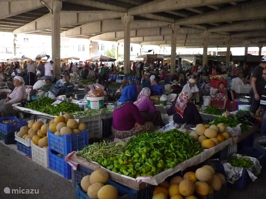 De grote markt van Manavgat