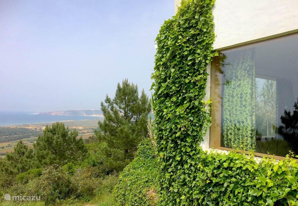 Uitzicht vanaf het huis naar de zee