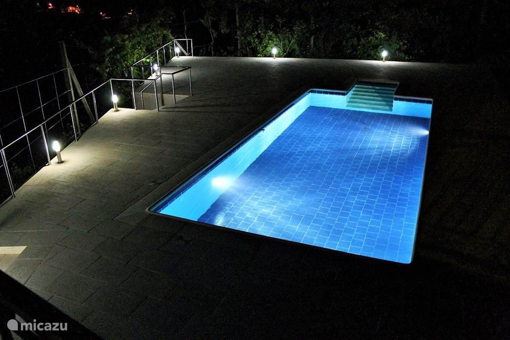 Zwembad met ruim terras.