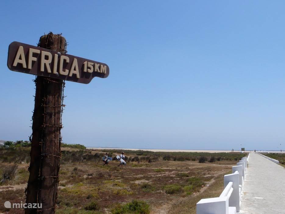 Afrika slechts 15 km verderop