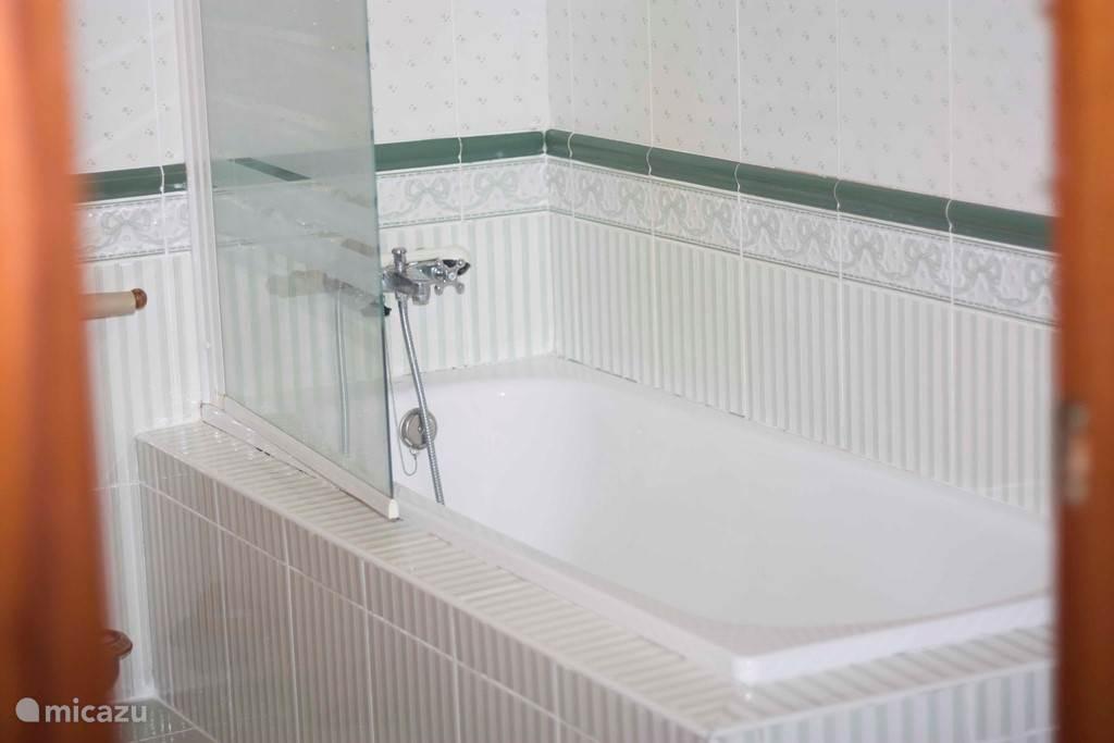 Ligbad in de badkamer op de begane grond